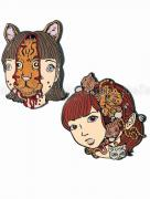 Shintaro Kago Enamel Pin One Cat or Four Cats