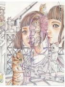 Shintaro Kago Neko Funjatta SIGNED - inside page
