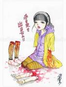 Shintaro Kago Funny Girl 100 original painting