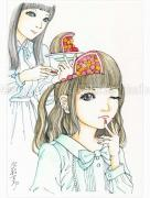 Shintaro Kago Funny Girl 102 original painting