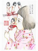 Shintaro Kago Funny Girl 106 Original Painting