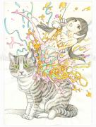 Shintaro Kago Funny Girl 109 original painting