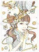 Shintaro Kago Funny Girl 110 original painting