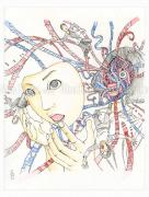 Shintaro Kago Funny Girl 111 original painting