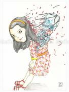 Shintaro Kago Funny Girl 112 original painting