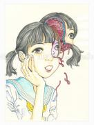 Shintaro Kago Funny Girl 115 original painting