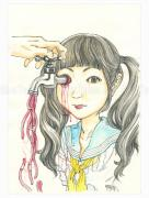 Shintaro Kago Funny Girl 116 original painting