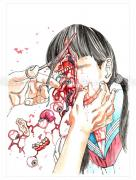 Shintaro Kago Funny Girl Original Painting 119