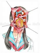 Shintaro Kago Funny Girl Original Painting 121
