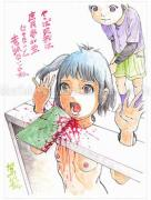 Shintaro Kago Funny Girl 45 original painting