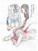 Shintaro Kago Funny Girl 57 original painting