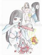 Shintaro Kago Funny Girl 63 original painting