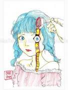 Shintaro Kago Funny Girl 71 original painting