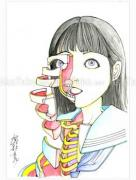 Shintaro Kago Funny Girl 72 original painting