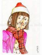 Shintaro Kago Funny Girl 76 original painting