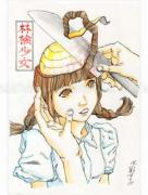 Shintaro Kago Funny Girl 81 original painting