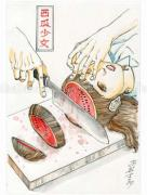 Shintaro Kago Funny Girl 82 original painting