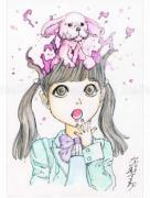 Shintaro Kago Funny Girl 83 original painting
