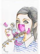 Shintaro Kago Funny Girl 87 original painting
