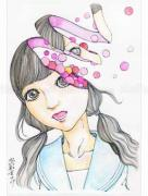Shintaro Kago Funny Girl 88 original painting