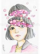 Shintaro Kago Funny Girl 89 original painting