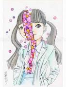 Shintaro Kago Funny Girl 90 original painting