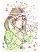 Shintaro Kago Funny Girl 91 original painting
