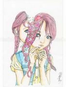 Shintaro Kago Funny Girl 92 original painting