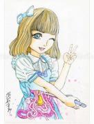 Shintaro Kago Funny Girl 93 original painting