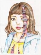 Shintaro Kago Funny Girl 97 original painting