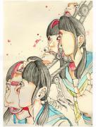 Shintaro Kago Conveyor Belt original painting