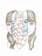 Shintaro Kago Erotic Original Painting 19