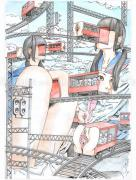 Shintaro Kago Erotic Original Painting 20