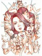 Shintaro Kago Erotic Original Painting 3