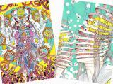 Shintaro Kago Shishi Ruirui Poster - choice of Mandala Aquarium OR Two Spirals