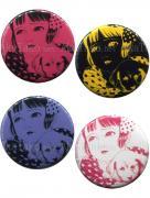 Suehiro Maruo Shoujo Tsubaki Midori Pin Badge Button Set 1