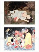 Takato Yamamoto postcards - Illusion of a Lady & Akuzaemon