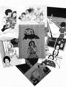 Toshio Saeki Black & White Print Set - 5 prints, bonus flyer, & paper envelope