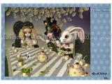 Trevor Brown Alice Green Tea Party poster SIGNED