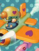 Trevor Brown Love Bombs original painting (detail)