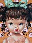 Trevor Brown Pill Baby original painting (detail)