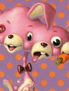 Trevor Brown Radioactive Rabbit original painting (detail)