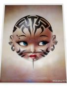 Trevor Brown Tattooed Doll Head Poster