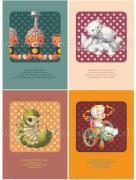 Trevor Brown Toy Box postcards Brains, Monsters, Lora Larva, Broken Doll