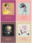 Trevor Brown Toy Box postcards Zelda, Lemon Kitten, Undead, Scribblehead