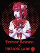 Trevor Brown Urbangarde t-shirt black - print detail