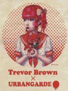 Trevor Brown Urbangarde t-shirt natural - print detail