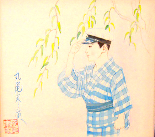 Suehiro Maruo A Boy Under a Willow original painting