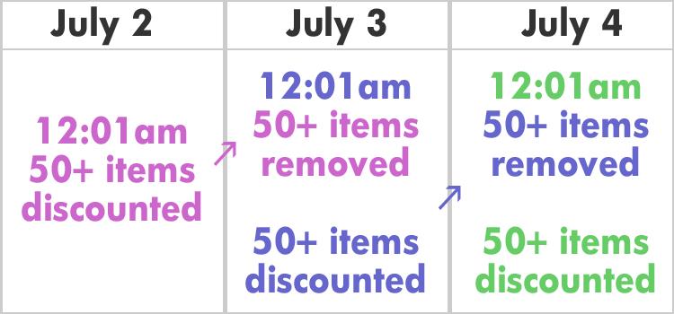 AkaTako 2016 Burst Sale Calendar