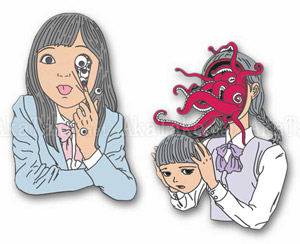 Shintaro Kago Enamel Pins Eyes or Octopus